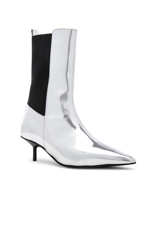 Marques ' Almeida Leather Pointy Kitten Heel Boots