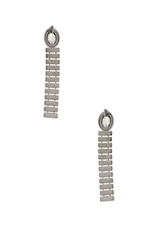 Stella McCartney Brass & Crystal Earrings