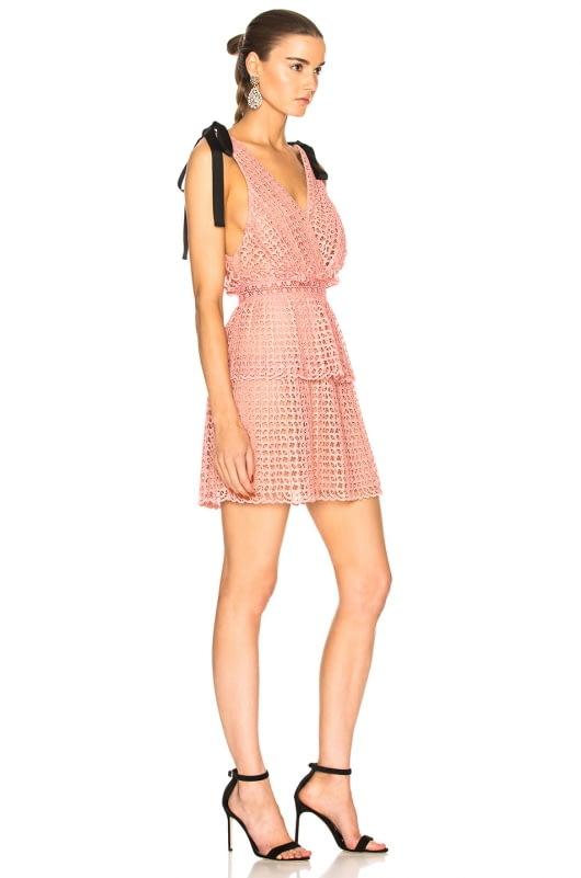 self-portrait Cutwork Mini Dress