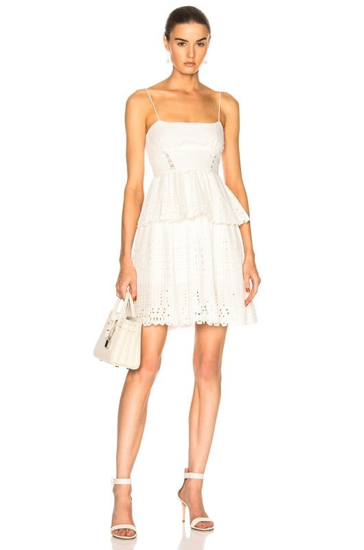 self-portrait Broderie Anglaise Mini Dress