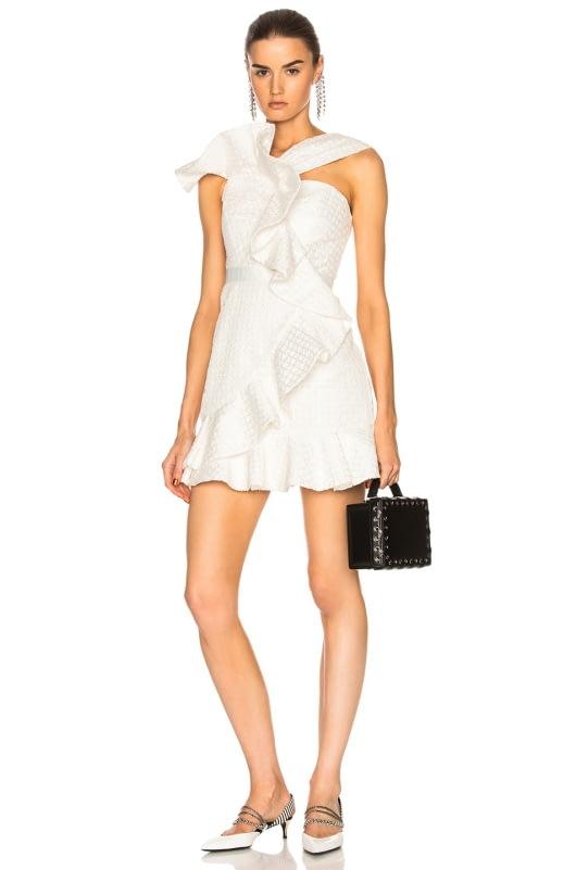 self-portrait Asymmetric Ruffle Dress
