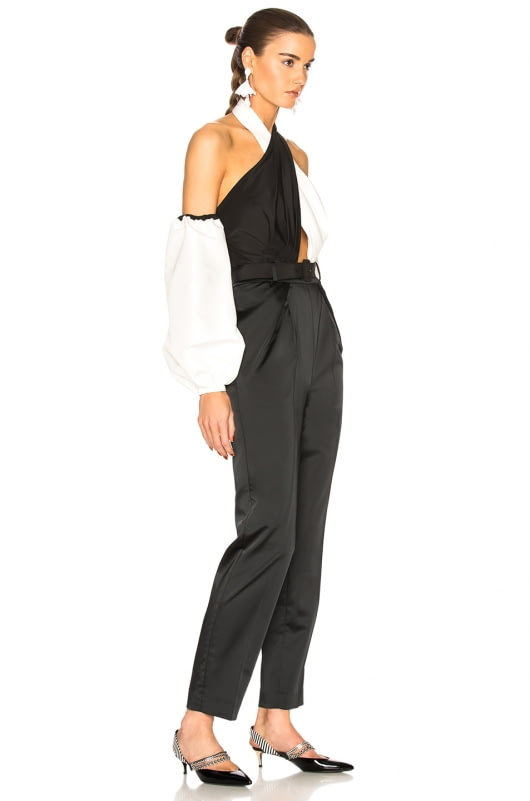 self-portrait Cross Front Monochrome Jumpsuit