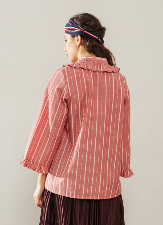 Bel. Corpo Stripe Red Dara Top