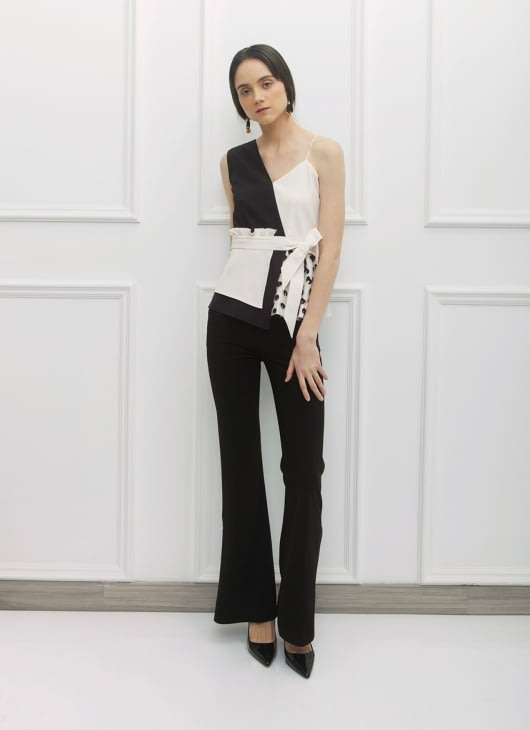 NADIYA Black & White  Kira Top