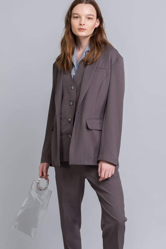 Shopatvelvet Dark Grey Cher Blazer