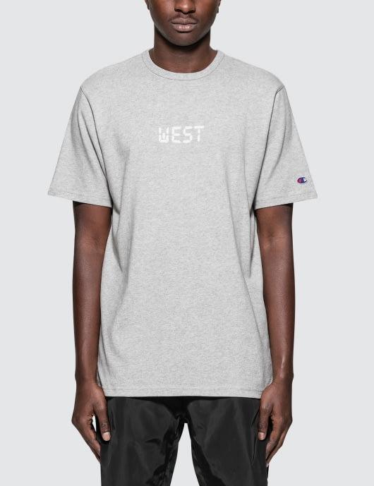 "Champion Reverse Weave Beams x Champion ""West"" S/S T-Shirt"
