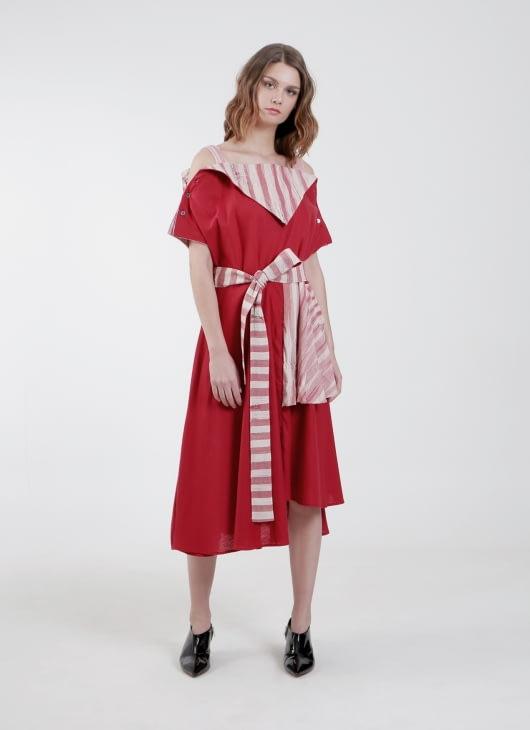PURANA RTW Red Sheena Dress