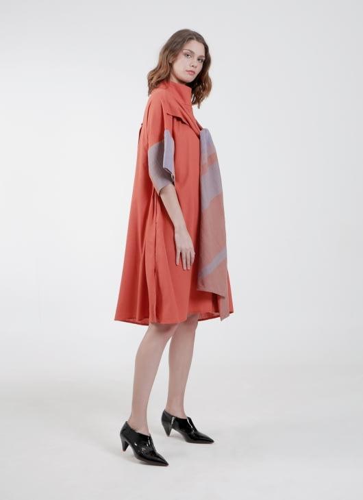 PURANA RTW Terracota Samantha Dress