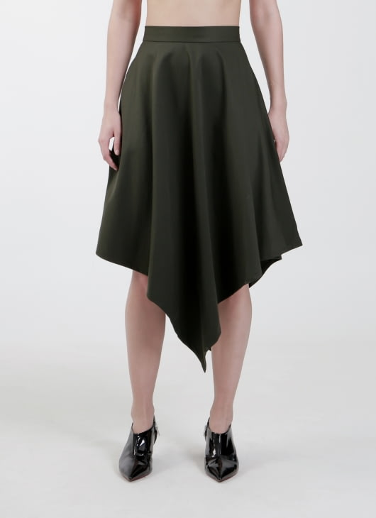 Enigmanifesto Moss Green Pine Skirt