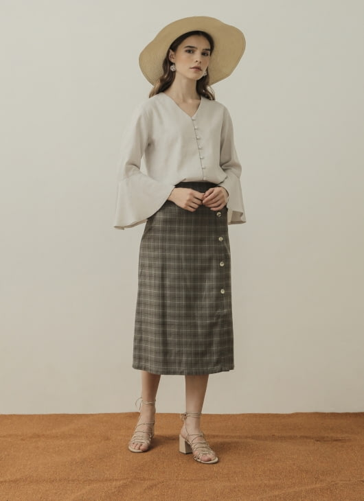 NANNA Green Slit Mama Skirt