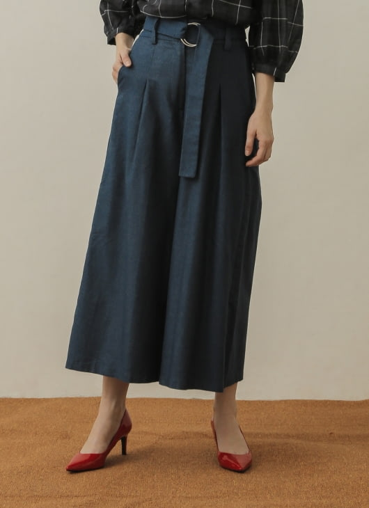 NANNA Blue Belted Pants