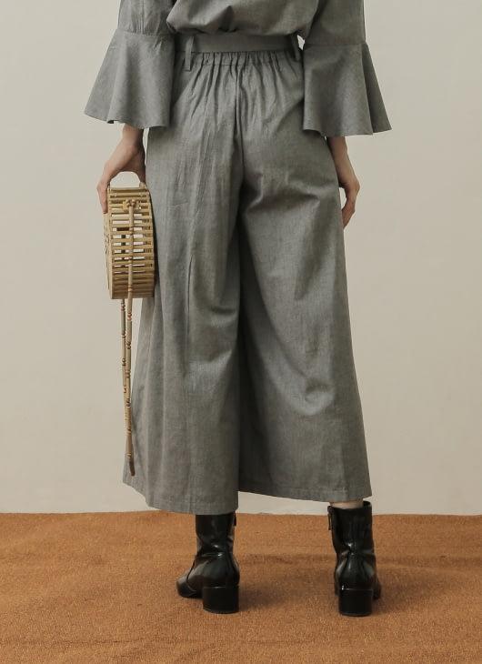 NANNA Gray Belted Pants