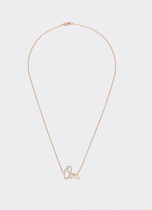 Alexandra Alberta Rose Gold Diamond Om Necklace