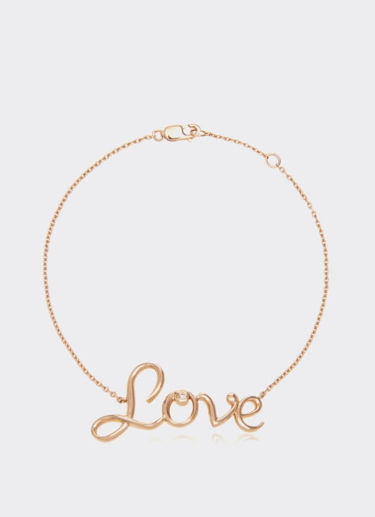 Alexandra Alberta Rose Gold Diamond Love Bracelet
