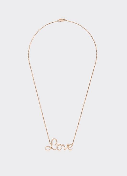 Alexandra Alberta Rose Gold Diamond Love Necklace