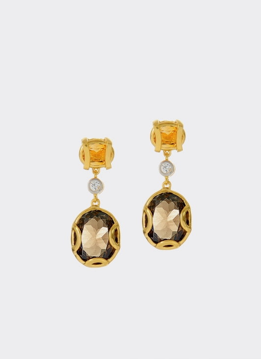 Alexandra Alberta Gray & Golden Madison Earrings