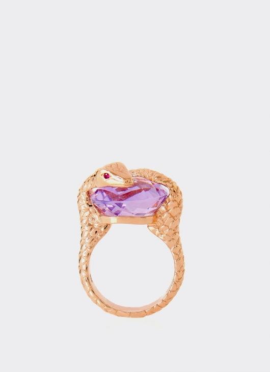 Alexandra Alberta Purple Amethyst Gaia Ring