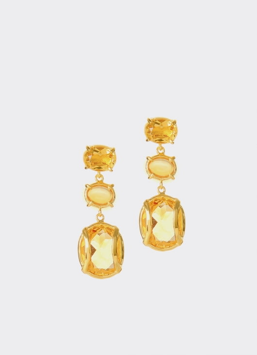 Alexandra Alberta Golden Citrine Lexington Earrings