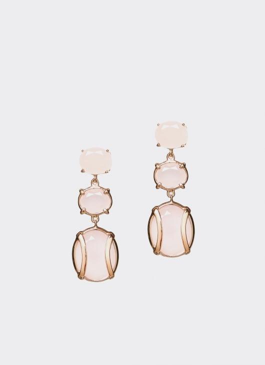 Alexandra Alberta Pink Rose Quartz Lexington Earrings