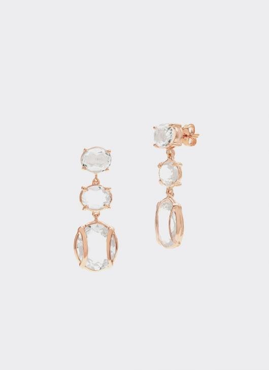 Alexandra Alberta White Clear Quartz Lexington Earrings