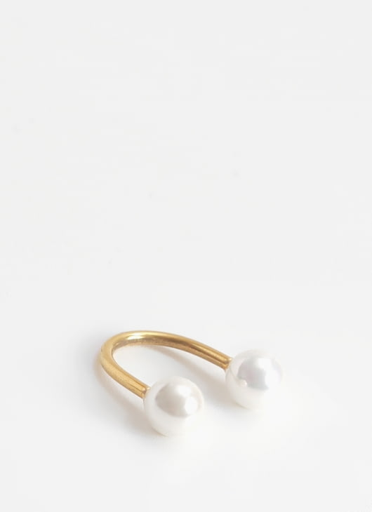 Krom Collective Gold Double Ring