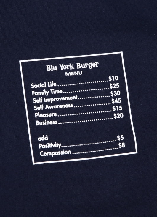 Bluesville Navy Burger Is Life T-shirt
