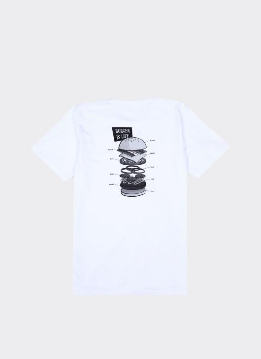 Bluesville White Burger Is Life T-shirt
