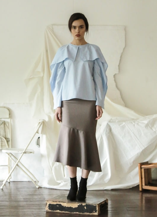 Commonwear Blue Ellery Cold Shoulder Top