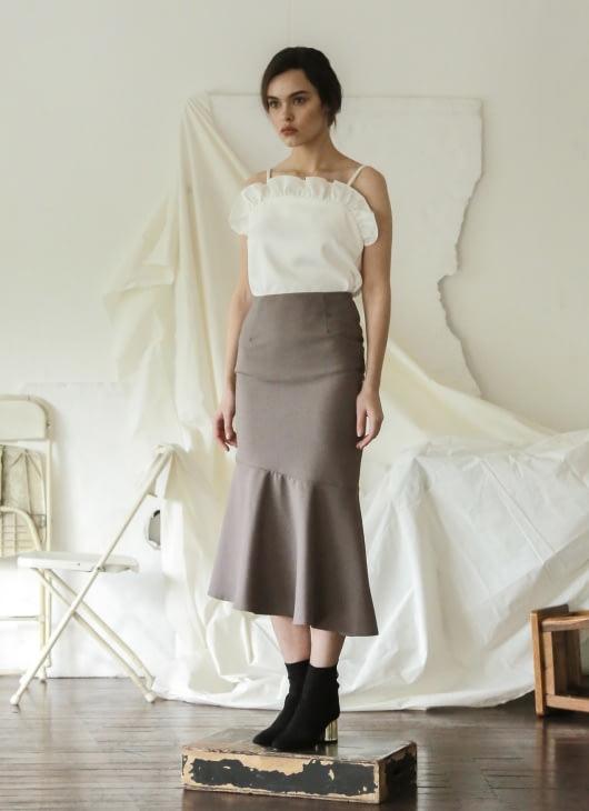 Commonwear Gray Camille Asymmetric Skirt