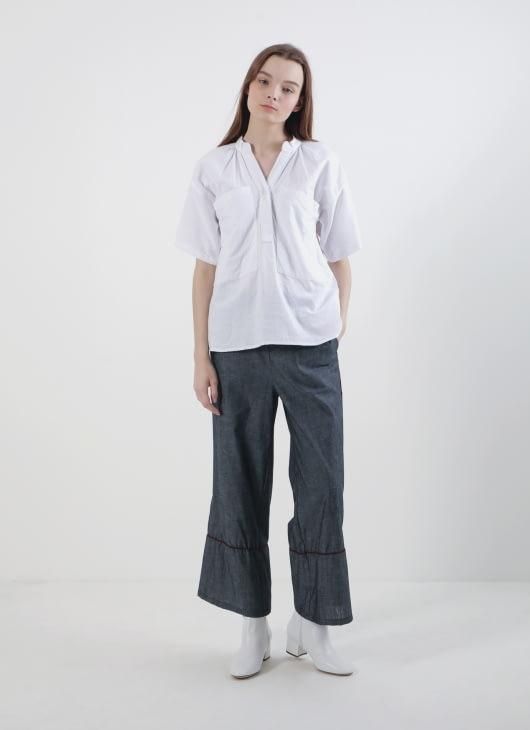 Calla The Label White Pocket Shirt