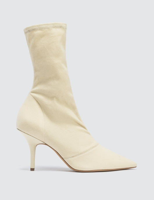 Yeezy Season 6 Women's Ankle Boot In Stretch Canvas 70mm Heel
