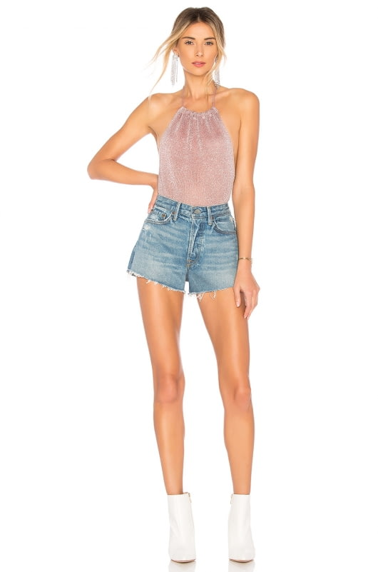 by the way. Samantha Metallic Knit Bodysuit