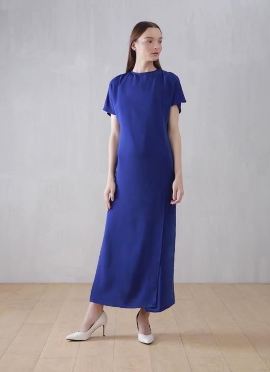 Wastu Sax Blue Pillar Dress