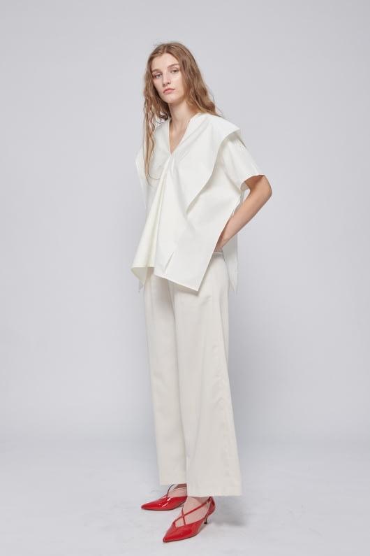 Shopatvelvet PT-026 White Blouse