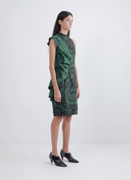 Amanda Hartanto Batik Green & Black Dyra Dress