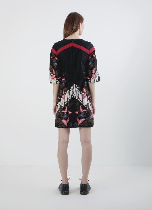 Rianty Batik Black Jevika Dress