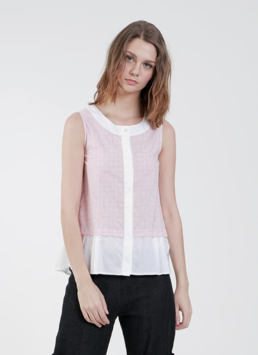 Rianty Batik Pink Nesha Blouse