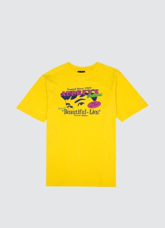 Public Culture Yellow Audrey's T-Shirt