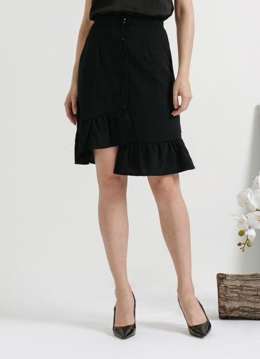 CLOTH INC Black June Asymmetric Skirt