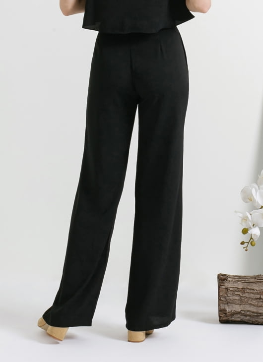 CLOTH INC Black Tied Peg Pants