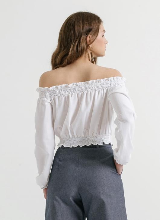 CLOTH INC White Genie Off Shoulder Top
