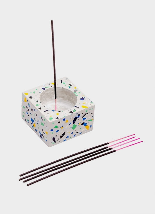 Canaan Gray Incense Holder with Incense Sticks