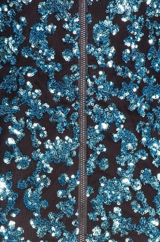 self-portrait Sequin Frill Mini Dress