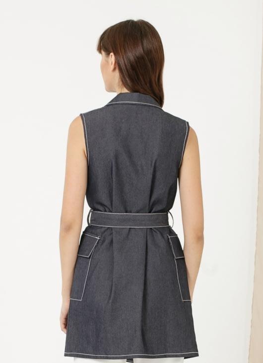 CLOTH INC Brie Vest - Denim