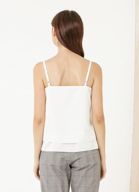CLOTH INC Basic Double Layered Tank - White