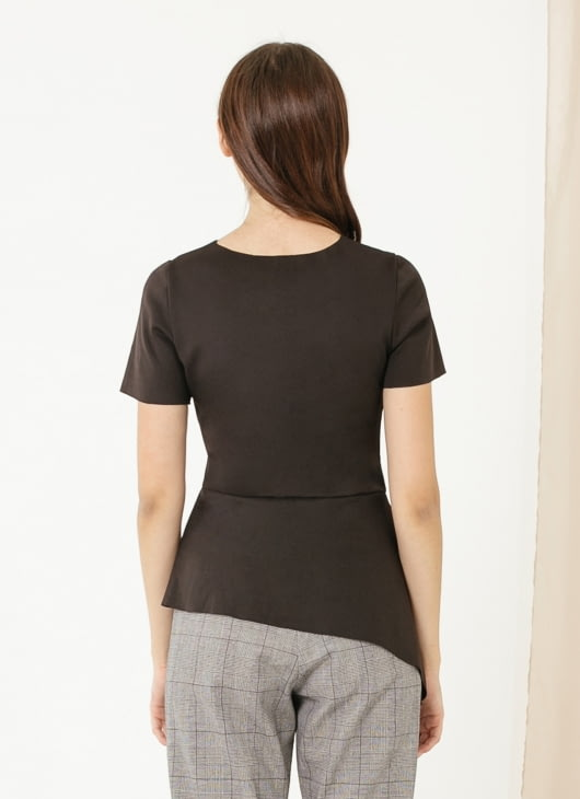 CLOTH INC Gal Scuba Peplum Top - Black