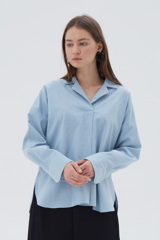 Shopatvelvet Element Shirt Blue