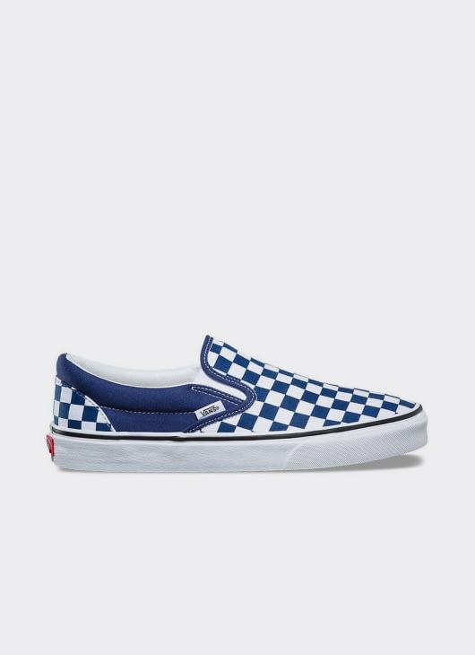 VANS Blue Checkerboard Slip-On Sneakers