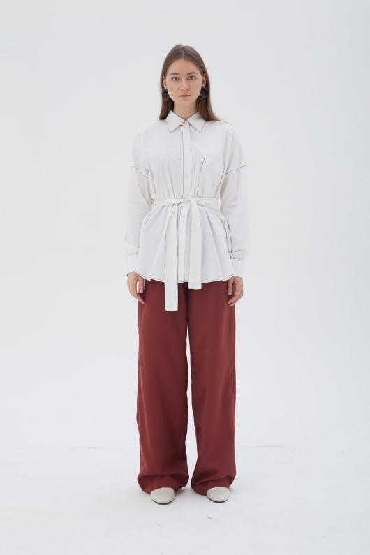 Shopatvelvet Vector Shirt White