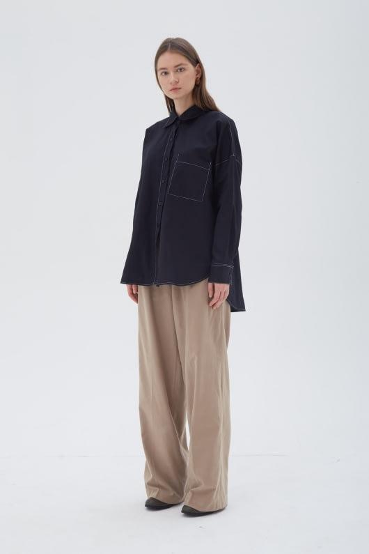 Shopatvelvet Vector Shirt Black